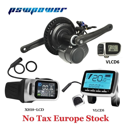 Europe or china stock  48V 500W or 48V 750W  VLCD5 or VLCD6 or XH-18 LCD TSDZ2 electric bicycle mid motor with torque sensor